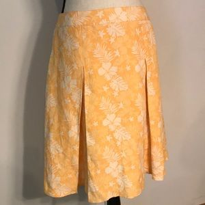Tommy Bahama SILK/LINEN Box Pleat Tropical Skirt